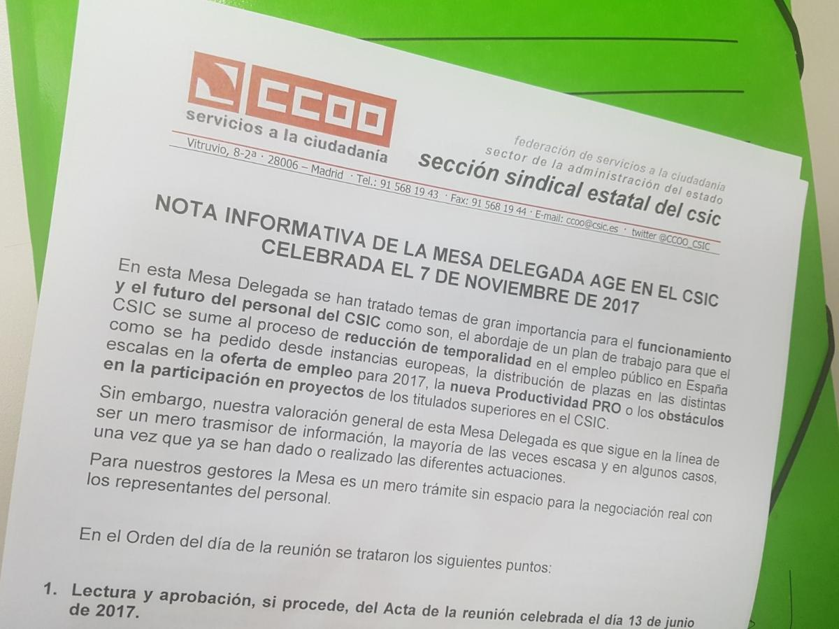 FSC-CCOO Sector Administración General del Estado-