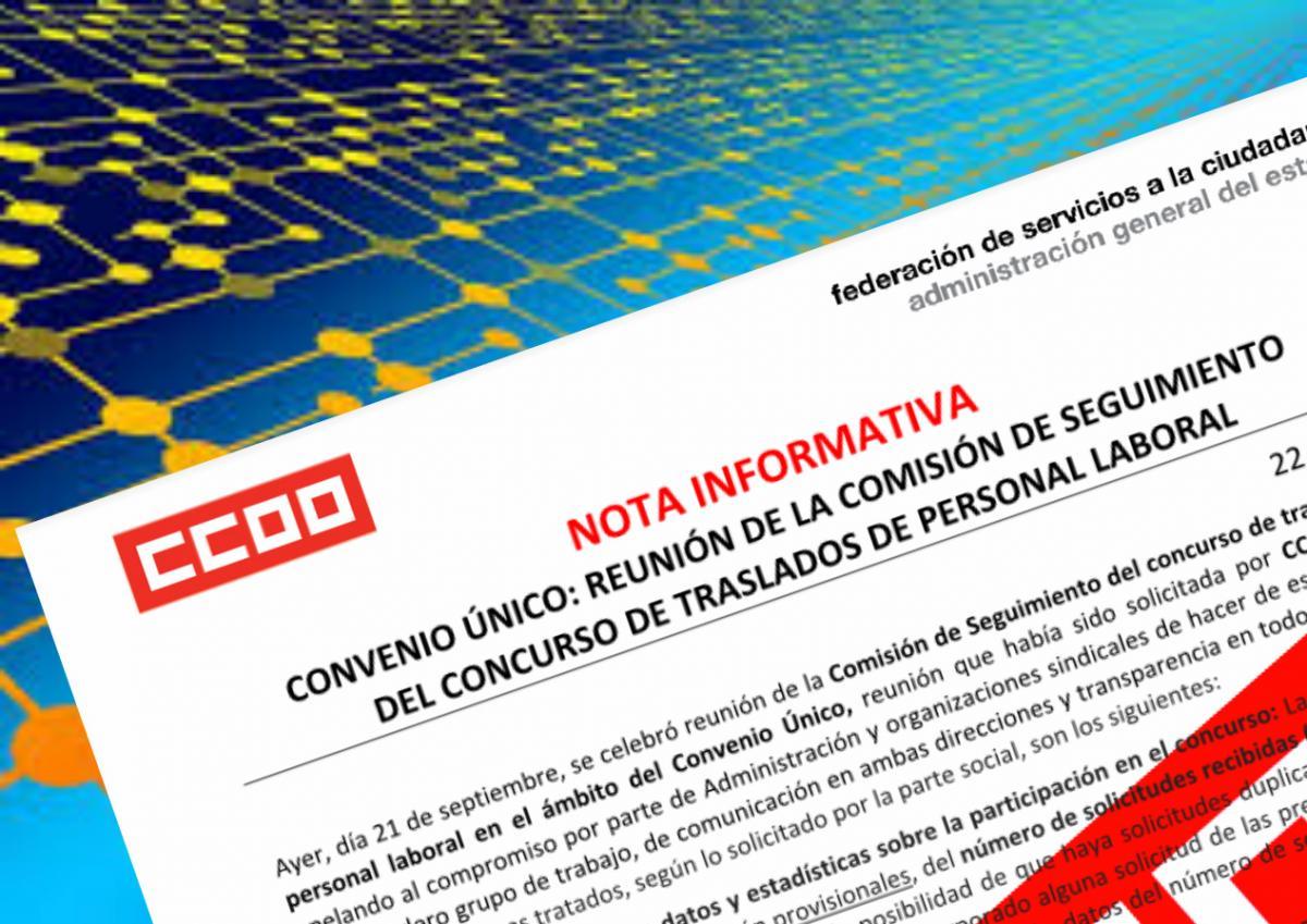 Fsc ccoo sector administraci n general del estado noticias for Ccoo concurso de traslados