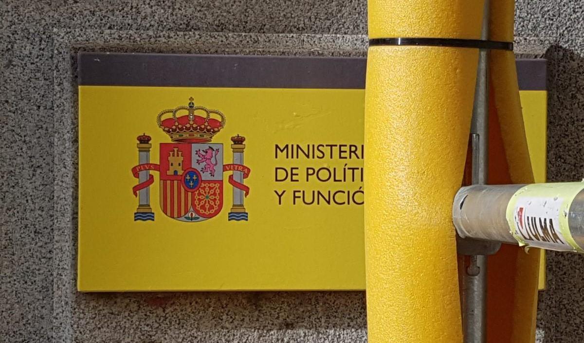 Entrada a la sede de Función Pública