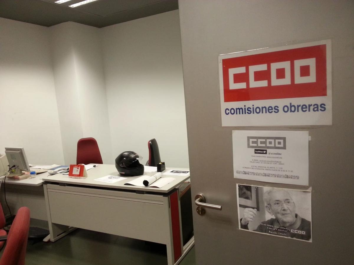 Local sindical de CCOO en el INE